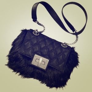 Simply Vera Wang Quilted Faux-Fur Shoulder Bag