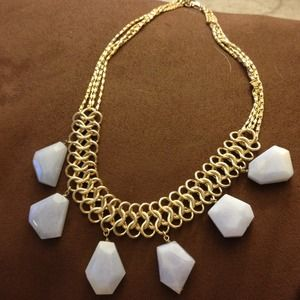piperlime Jewelry - Gold Statement necklace with lavender beads