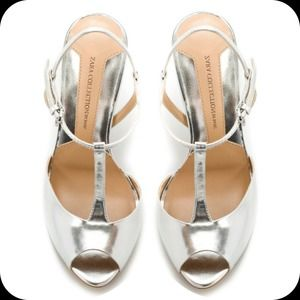 Zara Silver Heeled Dress Sandals