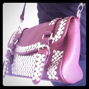 MMS Handbags - Studded crossbody purse