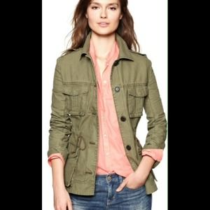 GAP Green Canvas Military Jacket