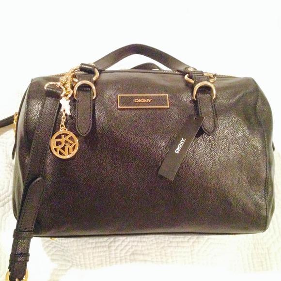 71 off dkny handbags donna karan dkny black leather