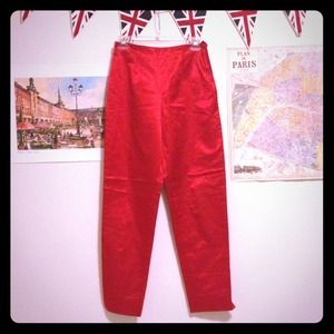 FENDI Pants - Metallic Shiny Red Fendi Pants US 8- small waist!