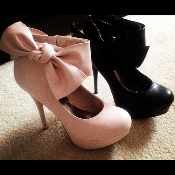 5% off Charlotte Russe Shoes - ( LIGHT NUDE PINK ) BOW HEELS from ...