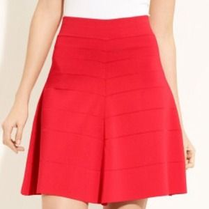 Yigal Azrouel 'Milan' Swing Skirt Red Medium NWT