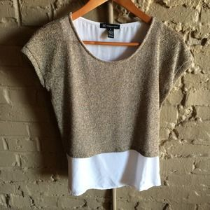 I.N.C. Tops - Layered knit top