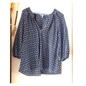 Joie navy/white blouse!