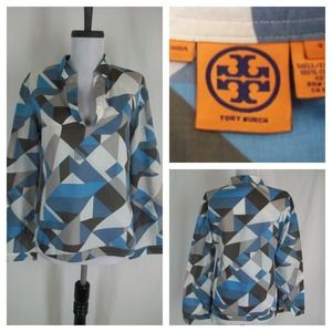 Tory Burch Geo Print Tunic Top