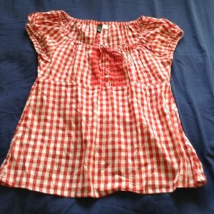 H&M Divided Tops - Red and white top
