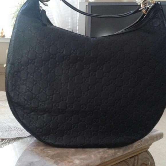 848f7daadf3049 Gucci Bags   Hp Black Ssima Large Gg Twins Hobo   Poshmark