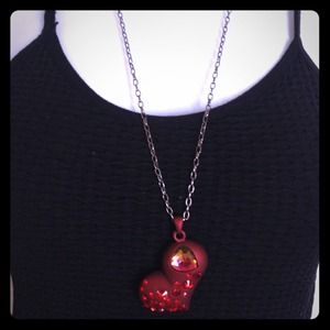 Black Halo Crystal Heart Necklace