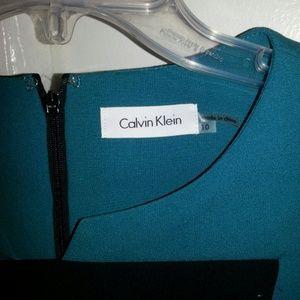Calvin klein teal shift dress