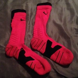 Nike dri-fit pink basketball socks