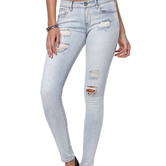 70% off PacSun Pants - PacSun light wash ripped jeans from Emily's ...