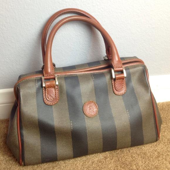 FENDI Handbags - Authentic Vintage FENDI Pequin Handbag 38e1acb124bb8