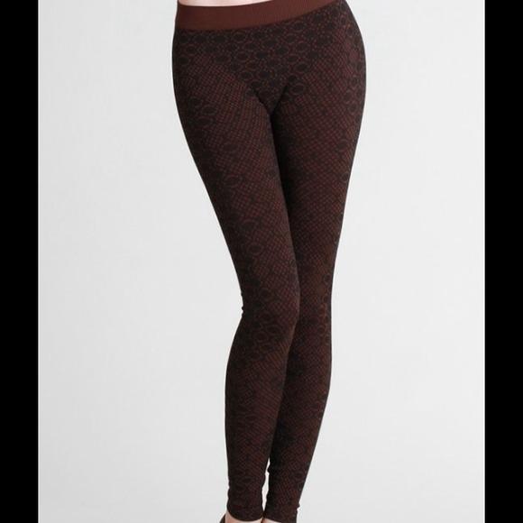 3c70f06f3c151e Niki Biki Pants | Beehive Print Leggings In Dark Brown | Poshmark