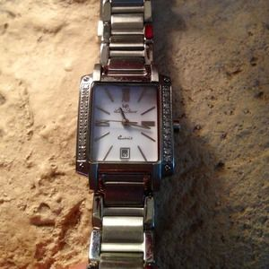 Lucien Piccard Jewelry - Lucien Piccard Diamond Stainless Steel Watch