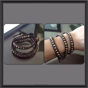 🎀Beautiful Brown Leather Wrap Bracelet🎀