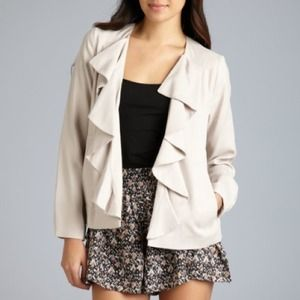 Adorable French Connection Ruffle Jacket