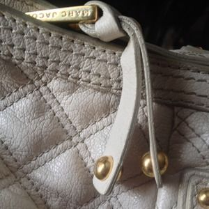 Marc Jacobs ivory quilted leather handbag