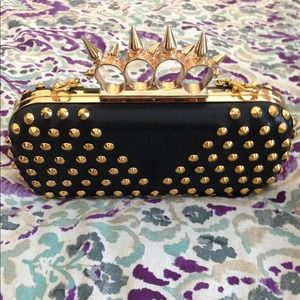 Clutches & Wallets - Studded and spiked clutch