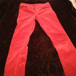 Adorable Coral smooth corduroy skinny pants
