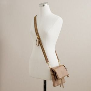 J crew exhibitor pouchette cross body purse