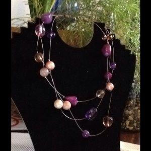 Jewelry - Colors of Purple on Delicate Bronze Wire