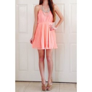 Dresses & Skirts - RESERVED NWOT! Bright coral dress