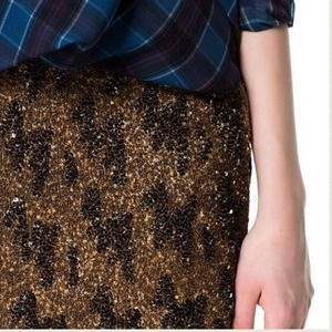 2xHOST PICK Zara Beaded Detail Sequin mini Skirt