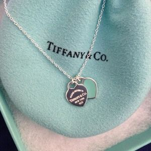 Tiffany & Co. Double Heart Tag Pendant