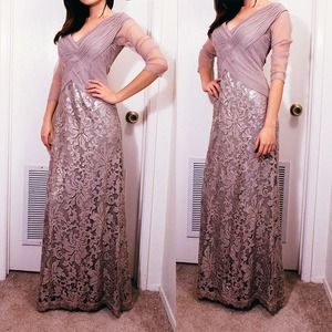 tadashi shoji Dresses & Skirts - Sequin open top mother of bride / prom gown