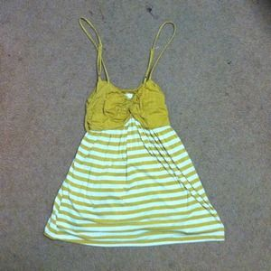 Forever 21 yellow striped tank