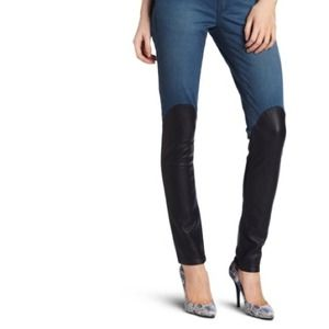 BCBGeneration Denim - BCBGeneration Leather Paneled Skinnies!