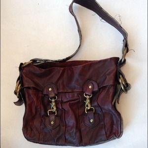 Top shop purple leather messenger bag purse
