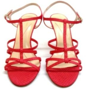 NWOT Kate Spade Bet Sandals in Red Python