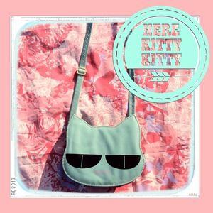 Handbags - Kawaii Mint Cat Purse
