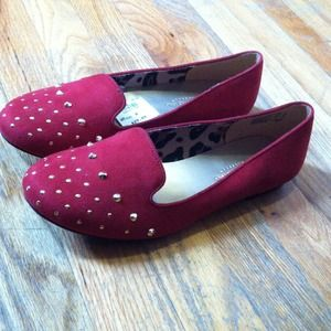 Christian Siriano Shoes - Red studded loafers size 8