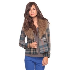 Forever 21 Jackets & Blazers - FOREVER 21 Plaid Fur Coat