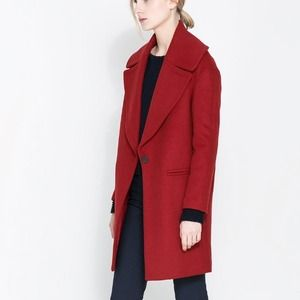 ZARA COAT WITH LARGE LAPEL Size M