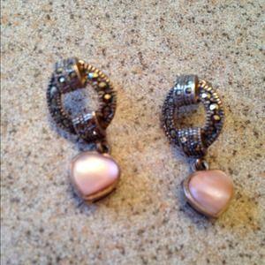 Jewelry - Vintage Silver heart earings
