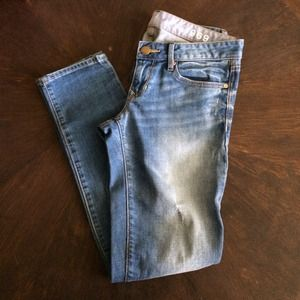 GAP Denim - Gap 1969 Always Skinny Petite Distressed Jeans