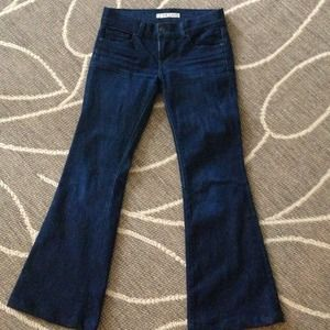Dark washed J Brand flare jeans