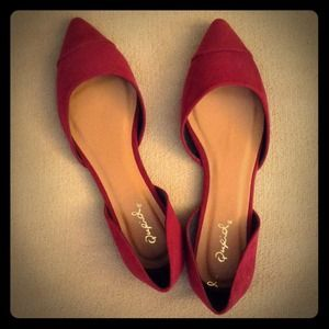 Shoes - Pointed Toe D'Orsay Flats