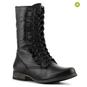 Betsey Johnson Boots - Leather Ruffle Boots
