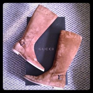 HP💖 {Gucci Riding Boots} SUEDE w/Box