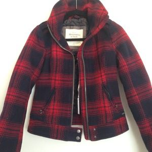 Abercrombie & Fitch Jackets & Blazers - NTW | Navy + Red Plaid Jacket