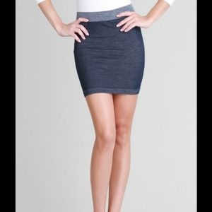 Two Tone Blue Skirt One Size