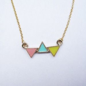 LAST ONE! Colorful Triangle Necklace