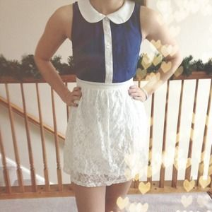 Forever 21 Dresses & Skirts - 🎉 HOST PICK 🎉 Forever 21 Blue & White Dress! 😍✨
